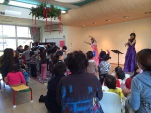 恵みの園保育園でのクリスマスコンサート