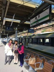 釜石駅にて